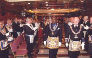 Visita del Gran Mestre de la G.L.N.F i del Gran Mestre de la Gran Lògia de la Costa d'Ivori